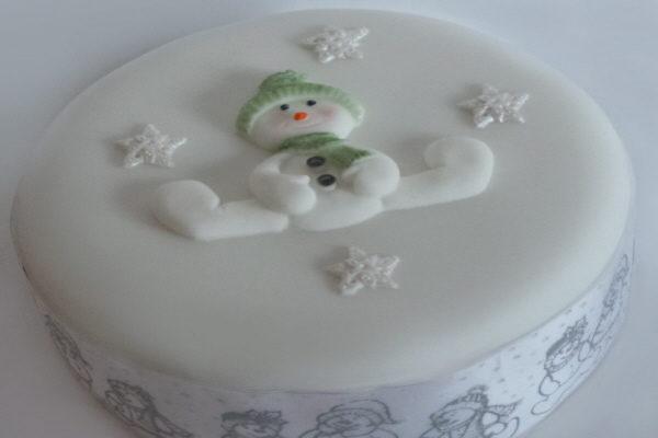Snowman Christmas Cake The Vegan Cakery